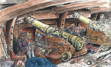 kanonerna på engelska